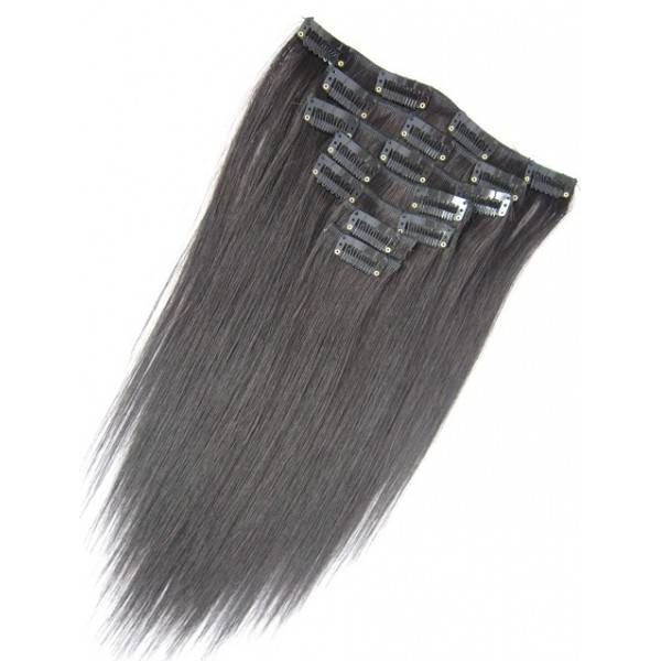clip in hair extensions zwart