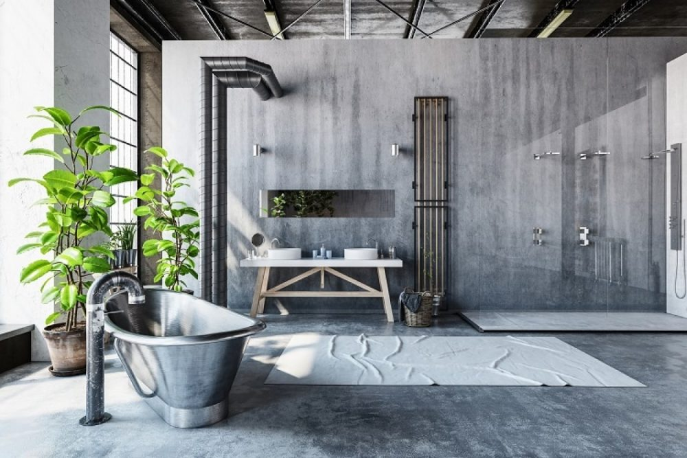 staande plant badkamer