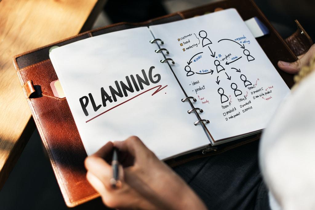 De planning is zeer belangrijk